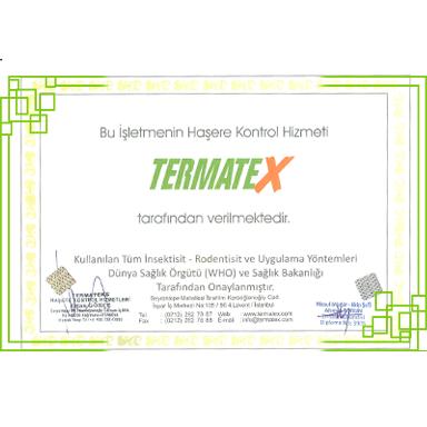 Termatex Sertifika